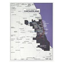 "Chicagoland Craft Brewery Map 18"" x 24"" Poster"