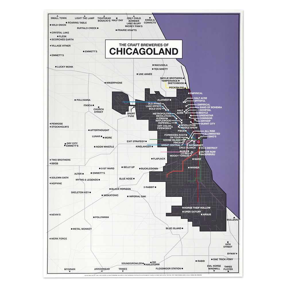 Chicagoland Craft Brewery Map 18