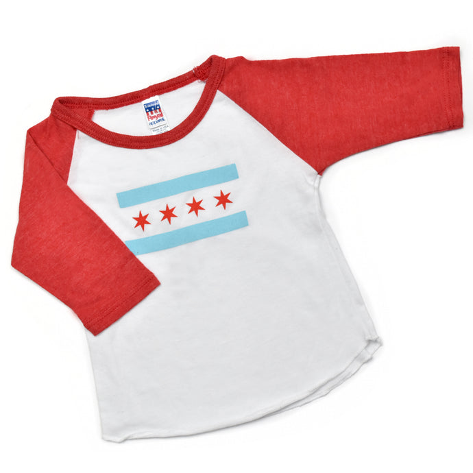 Chicago Flag Baby Baseball T-Shirt