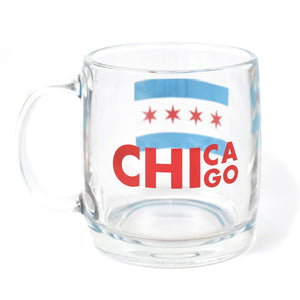 - Chicago Flag Glass Mug
