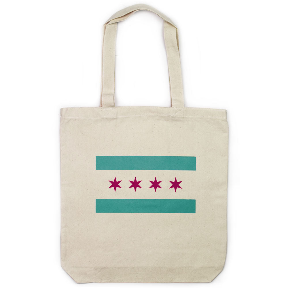 Chicago Flag Tote Bag