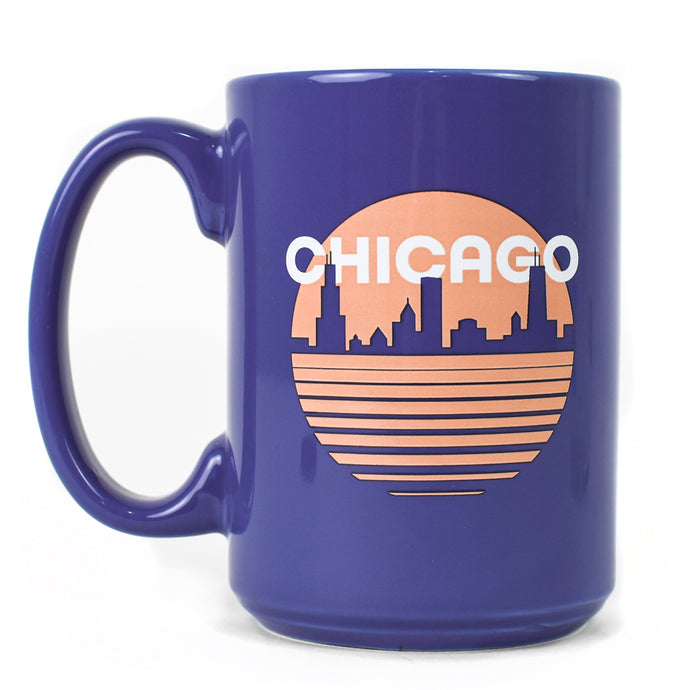 Chicago Retro Skyline 15 oz Mug