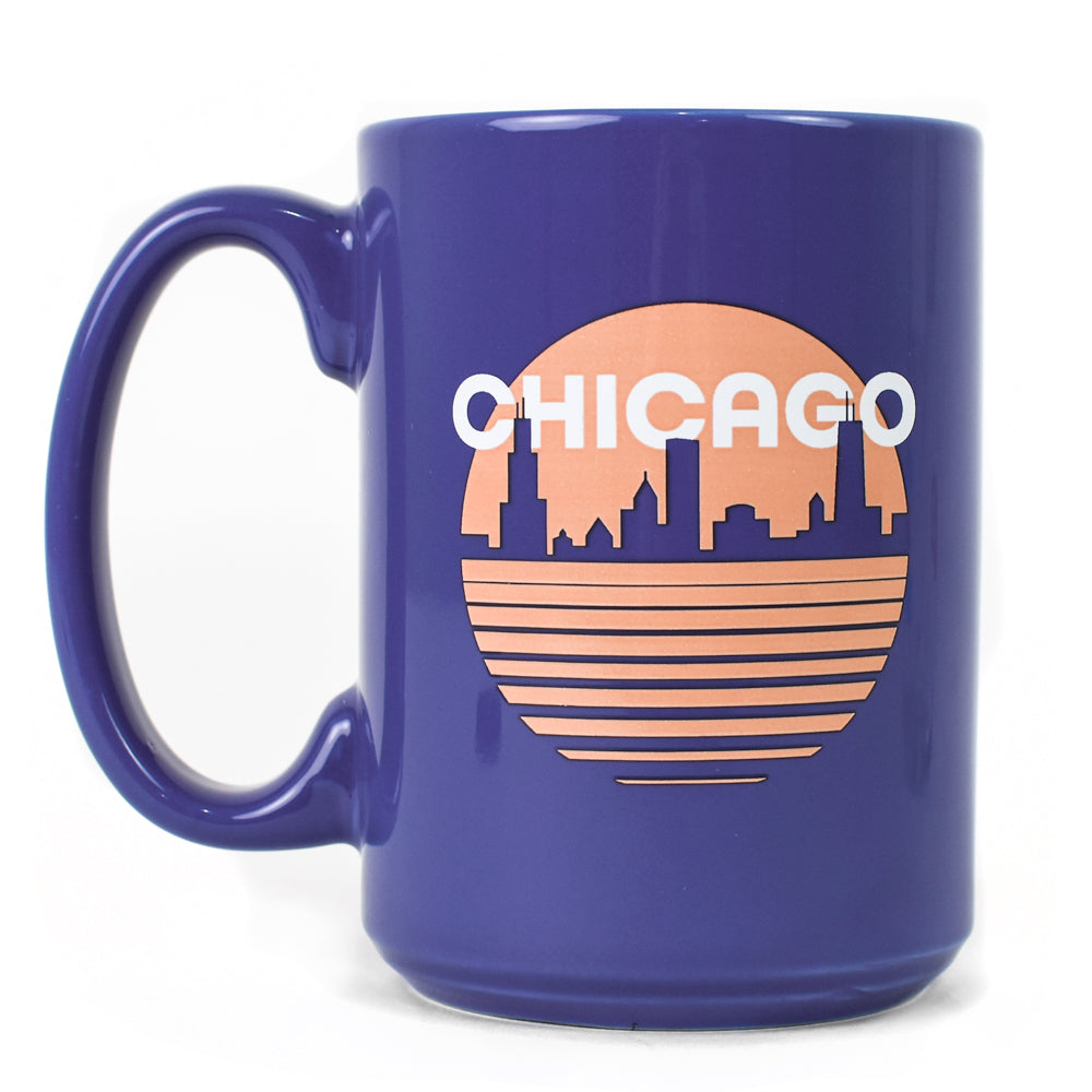 Chicago Retro Skyline 15 oz Coffee Mug