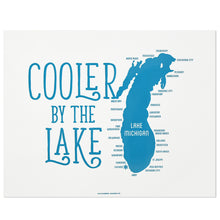 "Cooler by the Lake Michigan 14"" x 11"" Screen Print"