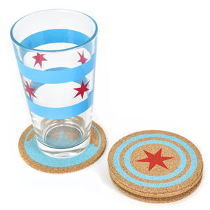 - Chicago Flag Star Coaster