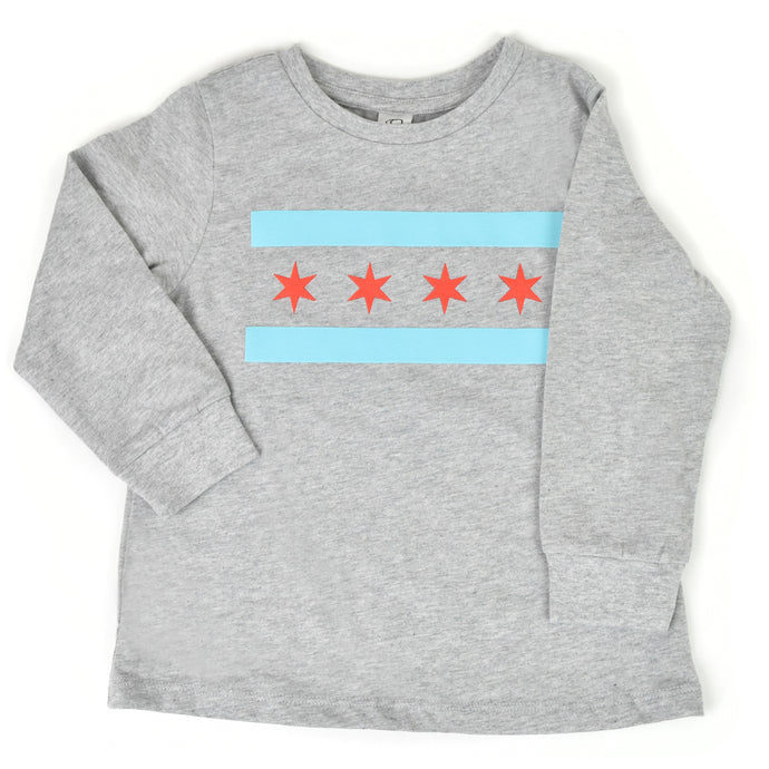 Chicago Flag Kids Long Sleeve Shirt