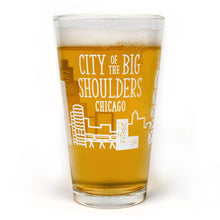 City of the Big Shoulders Chicago Skyline Pint Glass