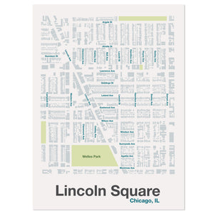 "Chicago Neighborhood Aerial 8"" x 10"" Street Map"