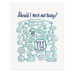 "Work Out Flowchart 8"" x 10"" Print"