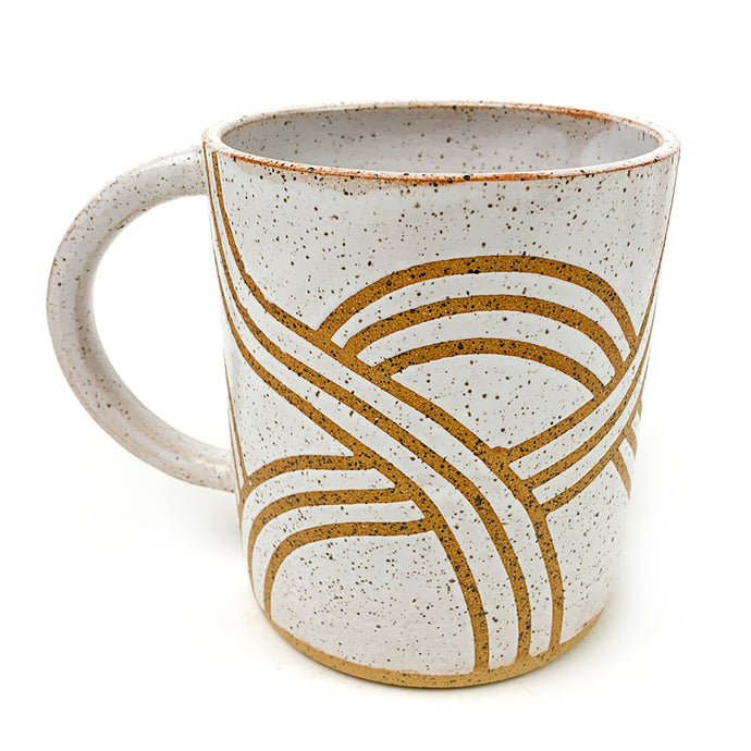 Sand Dunes Wheel Thrown Ceramic Mug