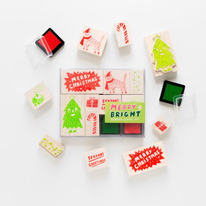 Merry & Bright Rubber Stamp Kit