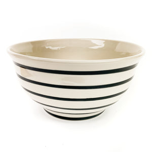 "Linny Black Lines 10.5"" Serving Bowl"