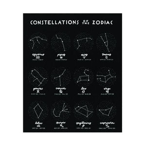 "Constellations of the Zodiac 16"" x 20"" Print"