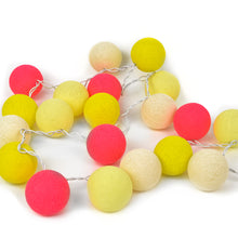Cotton String Ball Colored Light Strand