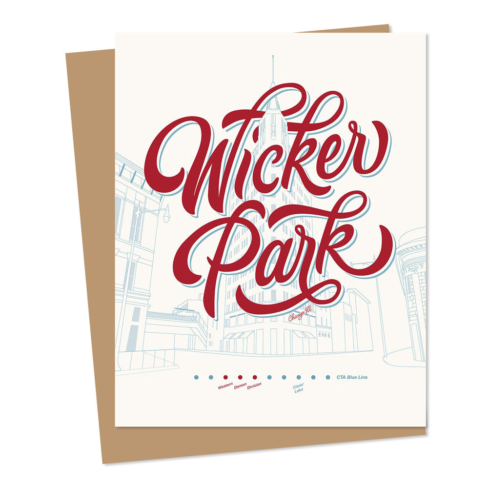 Wicker Park Chicago Greeting Card