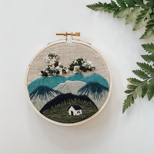 Cozy Mountain Home Embroidery Kit