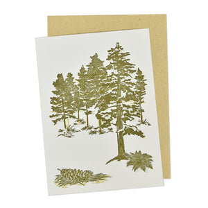 White Pines State Park Letterpress Card