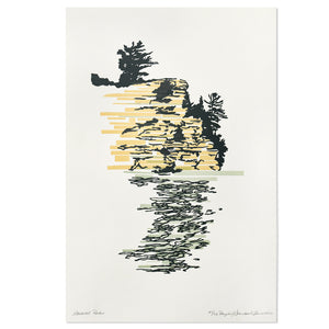 "Starved Rock 12"" x 18"" Letterpress Print"