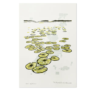 "Chain of Lakes 12"" x 18"" Letterpress Print"