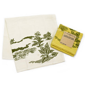 Hand-Dyed Illinois State Park Tea Towel