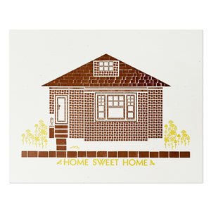 "Home Sweet Home 8"" x 10"" Letterpress Print"