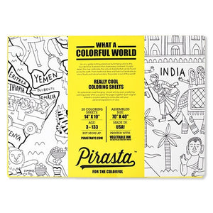 What a Colorful World Coloring Sheets