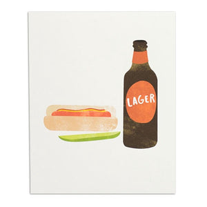 "Hot Dog & Lager 8"" x 10"" Print"