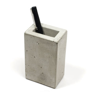 Light Concrete Pencil or Toothbrush Holder