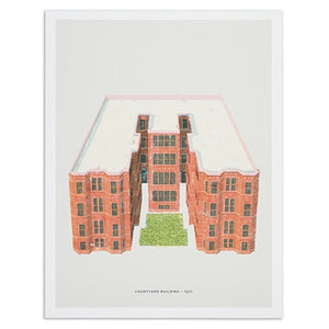 "Chicago Courtyard Building 12"" x 16"" Print"