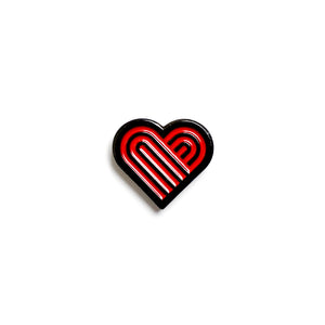 Thick Lines Heart Enamel Pin