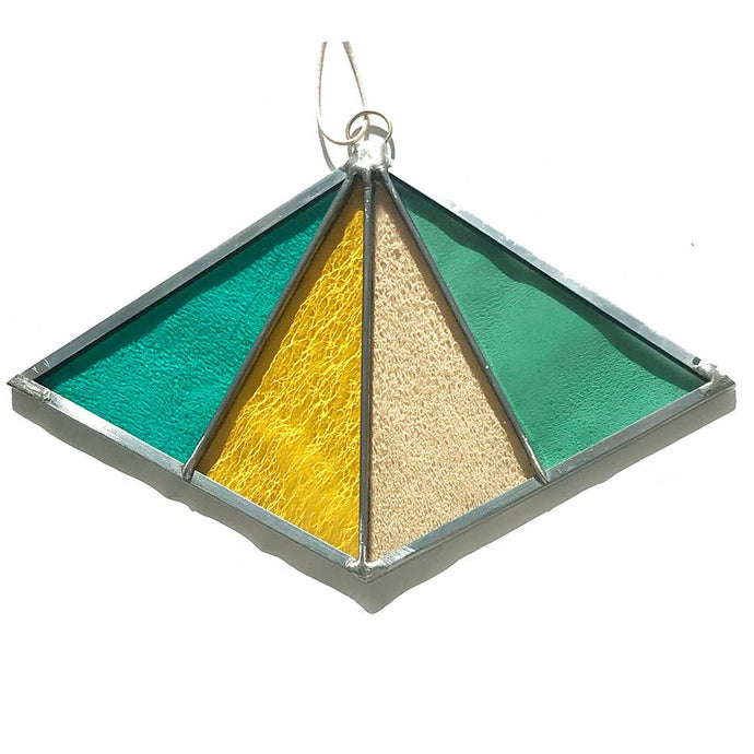 Diamond Stained Glass Suncatcher or Wall Hanging