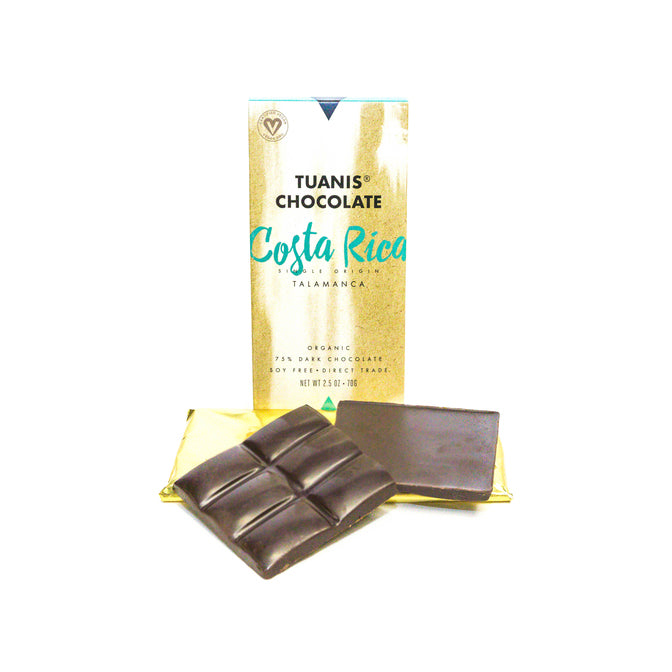 Costa Rica Single Origin 75% Dark Chocolate Bar
