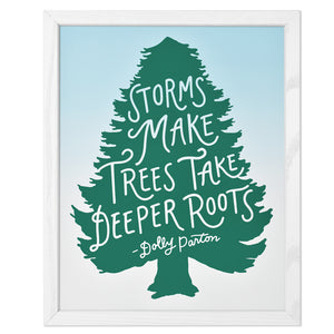 "Dolly Parton Deeper Roots Typographic 11"" x 14"" Limited Edition Screen Print"