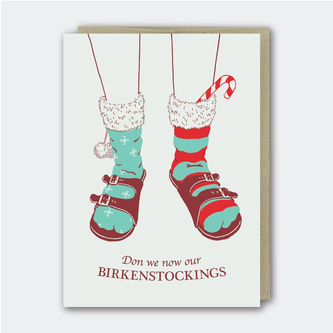 Don We Now Our Birkenstockings Funny Holiday Card