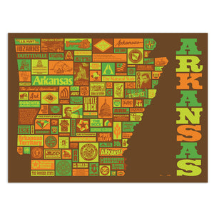 "Absolute Arkansas 18"" x 24"" Screen Print"