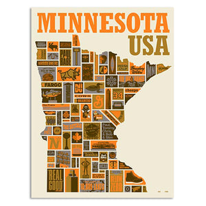 "Thank You Minnesota 18"" x 24"" Screen Print"