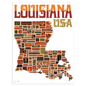 "Viva La Louisiana 18"" x 24"" Screen Print"