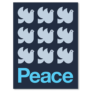 "Peace Doves 18"" x 24"" Screen Print"