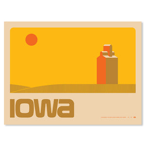 "Iowa Landscape 18"" x 24"" Screen Print"