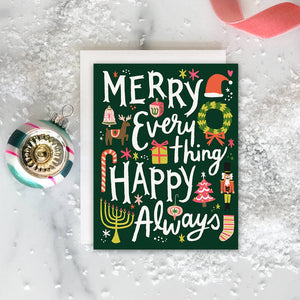 Merry Everything Happy Always Holiday Cards (Box of 8)