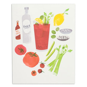 "Bloody Mary Cocktail 8"" x 10"" Print"