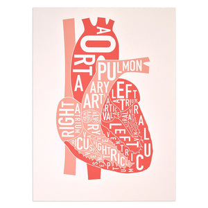 Typographic Heart Limited Edition Screenprint