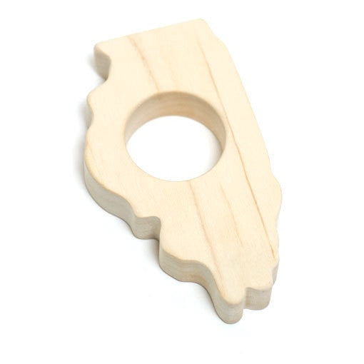 State-shaped Wood Teether