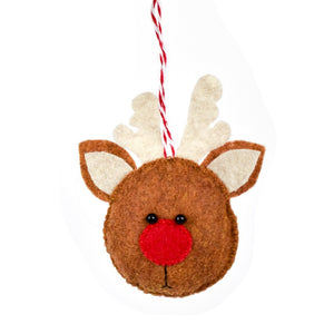 Rudolph Ornament, Brown