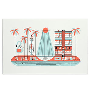 "Florida American Spaces 11"" x 17"" Print"