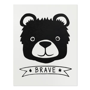 "Brave Bear 11"" x 14"" Screen Print"