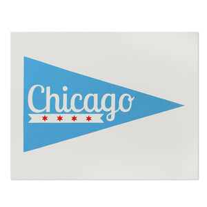 "Chicago Pennant 11"" x 14"" Screen Print"