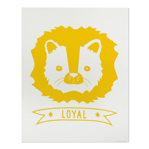 "Loyal Lion 11"" x 14"" Screen Print"
