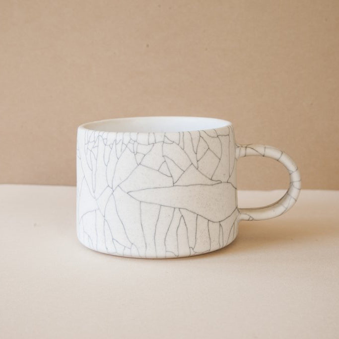 Handmade Crackle Glaze Ceramic Mug