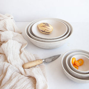 Handmade Ceramic Crackle Bowl Set (Set of 3)